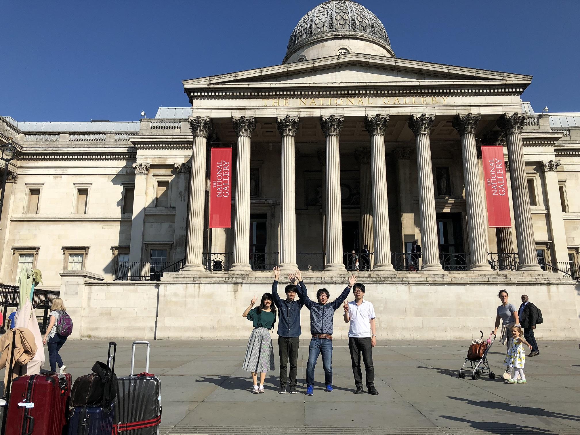ロンドン・ナショナルギャラリーにて
