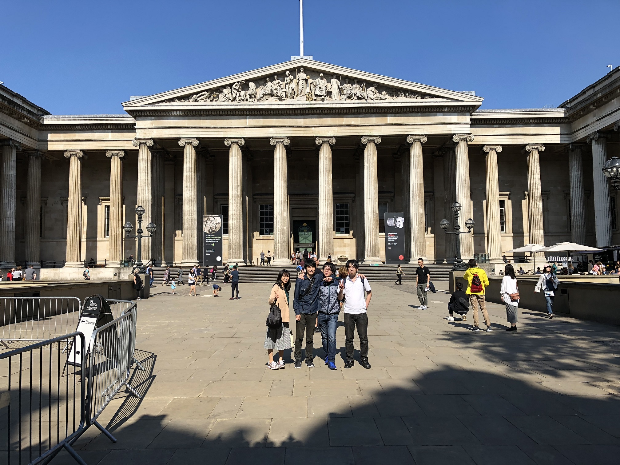 ロンドン・大英博物館にて