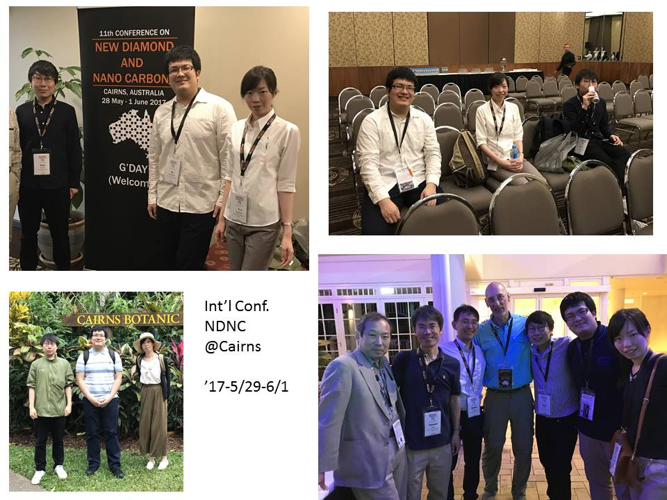170529 Three master course students made debut on Int'l conf. NDNC2017@Cairns